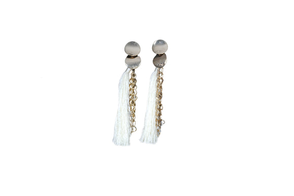 Dhanari White Color Theard Pretty Earring  For Women's (JW-74)U007