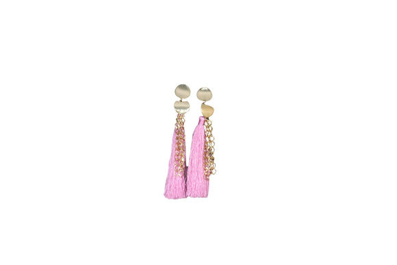 Dhanari Light Pink Theard Gorgeous Earring For Women's (JW-74)U0017