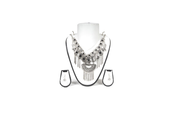 Dhanari Funky Silver Color Necklace (JW-80) A0003