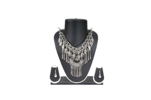 Dhanari Funky Silver Color Necklace (JW-80) A0007