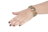 Dhanari Multi Color Golden Bracelets For Women's (JW-82)C0002