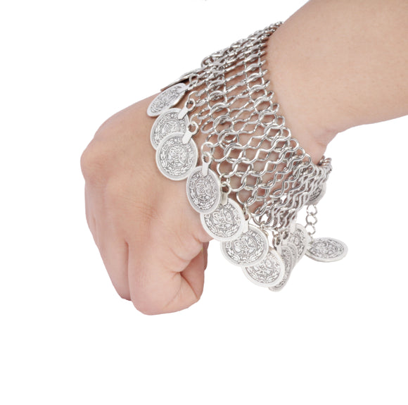 Dhanari Silver Pleated Bracelet For Women's (JW-85)F0001