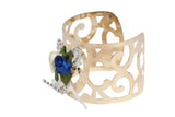 Dhanari Women's Blue & White Color Artificial Rose Gold Traditional Bracelet (JW-96)Q00012