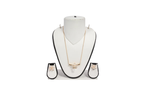 Dhanari Women's Diamonds Simple Chain Necklace (JW-97)R0005