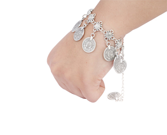 Dhanari Funky Silver Color Bracelet For Women's (JW-84)E0001