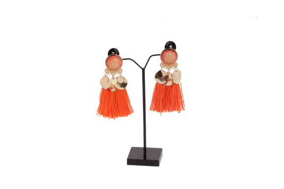 Dhanari Orange Color Theard Earrings (JW-100) U0006