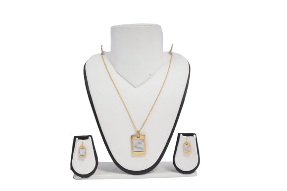 Dhanari Golden Necklace And Earring Jewellery Set For Women's (JW-102) W0006