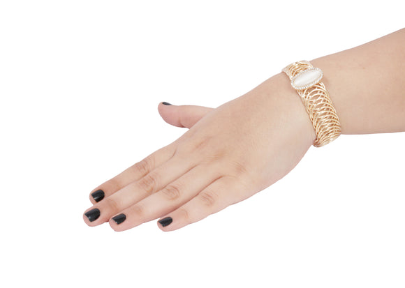 Dhanari Golden Color Party Wear Bracelets For Women's  (JW-89)J0006