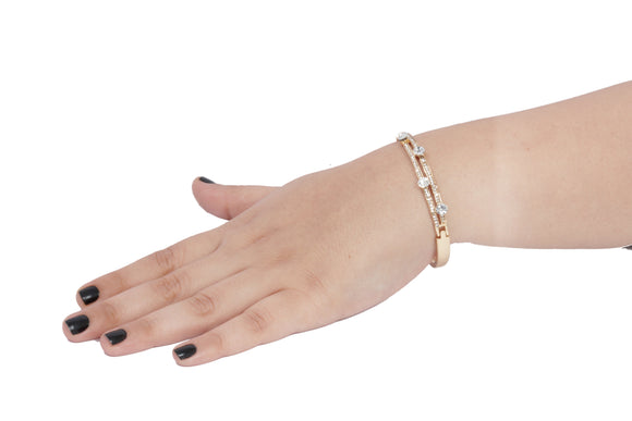 Dhanari Women's Golden Color Diamond Bracelet (JW-90) K0002