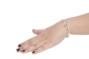 Dhanari Women's Golden Color Bracelet (JW-90) K0003