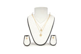 Dhanari Women's Small Hands Design Double Layer Chain Necklace (JW-105)Z0001