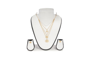 Dhanari Women's Small Designs With Three Layer Chain Necklace (JW-105)Z0002