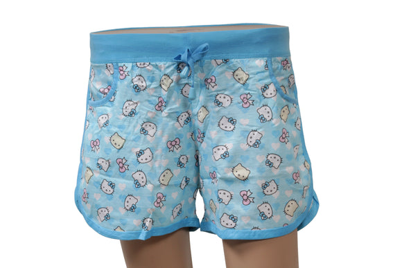 Dhanari Women's Blue Printed Regular Fit Shorts  (NS-10) J4