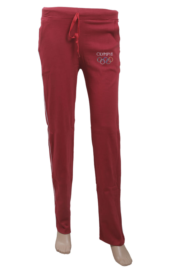 Dhanari Women's Cotton Stectchable Olympic  Red Lowers Night Suits(NS-11)K8