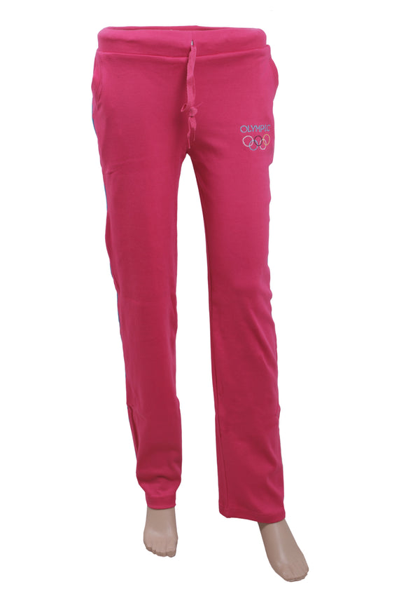 Dhanari Women's Cotton Stectchable Olympic Pink Lowers Night Suits(NS-11)K10