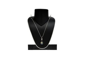 Dhanari Women's Multicolor Crystal Pendant Chain Necklace (JW-112)G00003