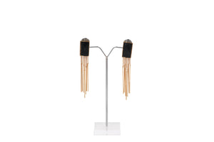 Dhanari Women's Black Crystal Earrings (JW-114) I00003