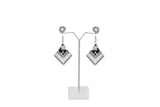 Dhanari Stylish White Color Stone Sliver Earrings For Women's (JW-127)V00004