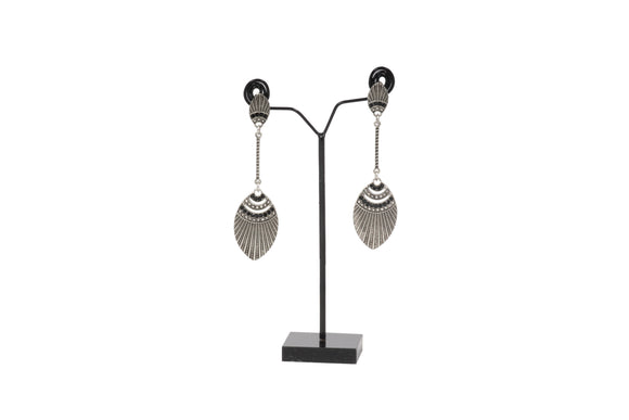 Dhanari Stylish Black Metal With Black Beads Women's Earrings (JW-131)Z00006