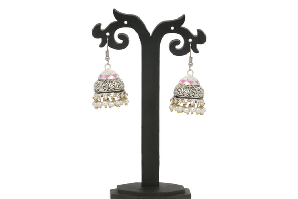 Dhanari Women's Silver Party Wear Jhumki Earrings (JW-138)G00003