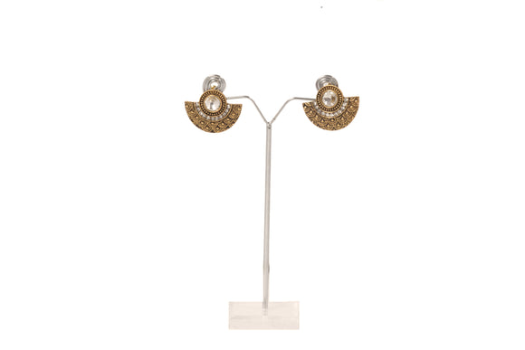 Dhanari Women's Traditional Golden Color Earring (JW-146) O000001