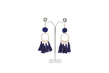 Dhanari Royal Blue Thread Earrings For Women's (JW-147) P000001