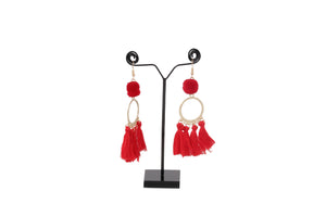 Dhanari Red Thread Earrings For Women's (JW-147) P000005