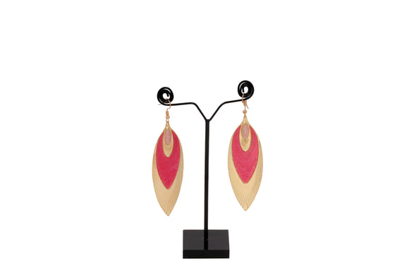 Dhanari Women's Pink & Golden Earrings (JW-150) S0000018