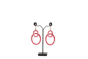 Dhanari Women's Red & Pink Earrings (JW-150) S0000023