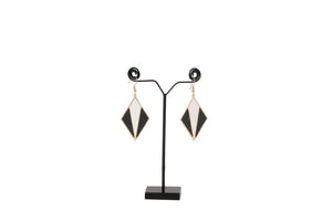 Dhanari Women's Diamond Design Funky Earrings (Black) (JW-150)S0000034