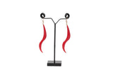 Dhanari Red Funky Drop Earrings For Women's (JW-150)S0000037
