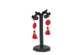 Dhanari Women's Beautiful Red Color Thread Earrings (JW-151)T000001