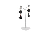 Dhanari Women's Black Color Thread Stylish Earrings (JW-151)T000005