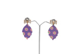 Dhanari Women's Funky Shape With Golden Bow Multicolor Earrings (JW-155) X0000017