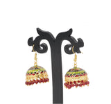 Dhanari Traditional Red Pearls Jhumka Earrings For Women's (JW-135)D000008