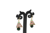 Dhanari MultiColor Green Jhumka Earrings (JW-137) F000001