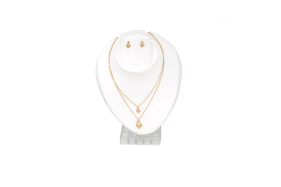 Dhanari Women's Two Layer Gold Chain Necklace Set (JW-104) Y0001