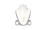 Dhanari Women's Love Shape Pendent Necklace Set (JW-104) Y00013