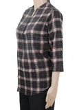 Dhanari Women's Checks Regular Slim Fit Topper (TOP-1) A11
