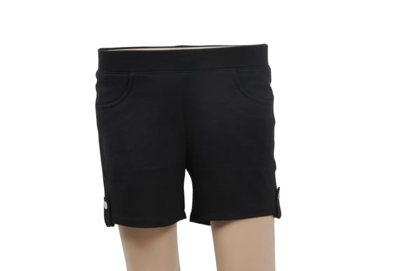 Dhanari Women's Black Shorts Jagging (SHORT-2) B1
