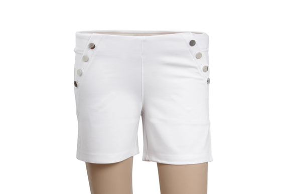 Dhanari Women's White Shorts Jegging (SHORT-1) A1