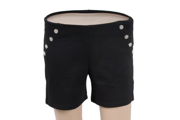 Dhanari Women's Black Stylish Shorts Jegging (SHORT-1) A3