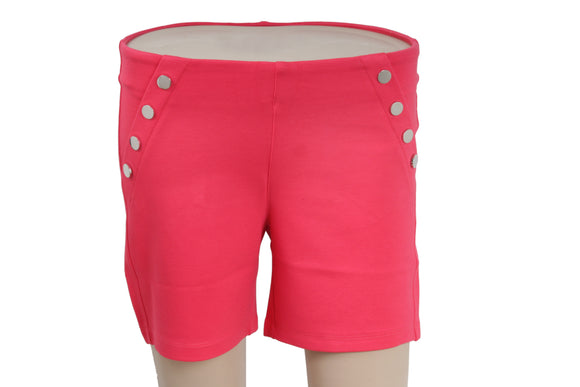 Dhanari Women's Pink Color Shorts Jegging (SHORT-1) A4