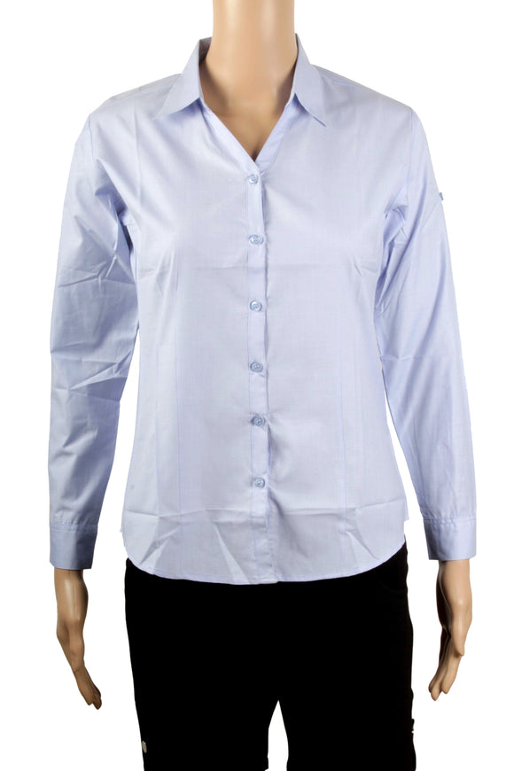 Dhanari Women's Light Blue Formal Shirt (ST-2) B3