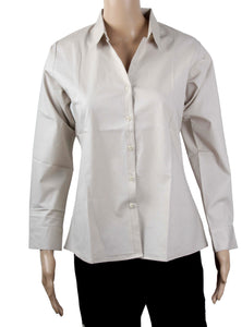 Dhanari Cream Color Formal Shirt For Women's (ST-4) D4