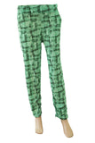 Dhanari Women's Night Suit Green Printed Pajamas (NS-15) O2