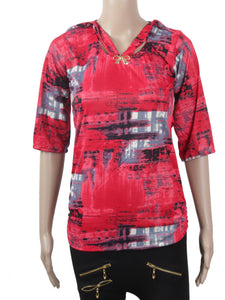 Dhanari Red Color Top For Women's (TOP-17) Q6