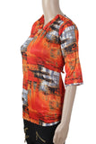Dhanari Stylish Orange Color Top For Women's (TOP-17) Q8