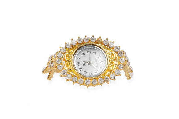 Dhanari Golden Watch With Diamond For Women (WAT-10) J3