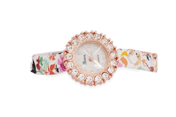 Dhanari Women's Multicolor Party Wear Flowers Designs Watches (WAT-14)N3